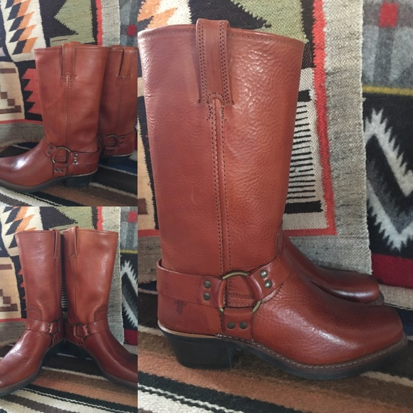 Frye Shoes | 12r Harness Boots Wo Rustred Sz 8 Nwt | Poshmark